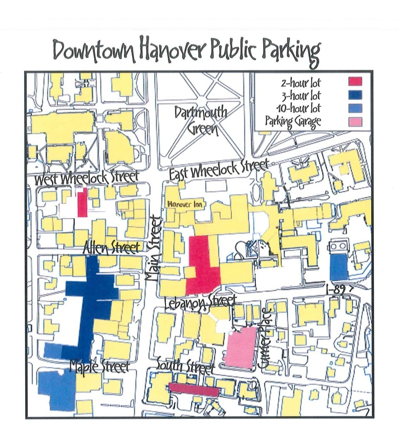 Hanover Parking Map